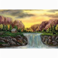 Brentons Waterfall - Ave Hurley - ArtRave - Canvas 12  x 18  (Unframed)