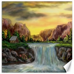 Brentons Waterfall - Ave Hurley - ArtRave - Canvas 16  x 16  (Unframed)