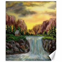 Brentons Waterfall   Ave Hurley   Artrave   Canvas 20  X 24  (unframed)