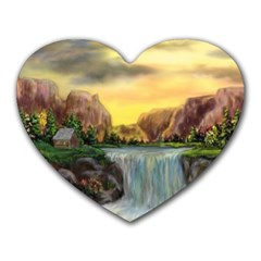 Brentons Waterfall - Ave Hurley - ArtRave - Mouse Pad (Heart)