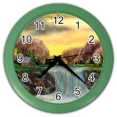 Brentons Waterfall - Ave Hurley - ArtRave - Wall Clock (Color)