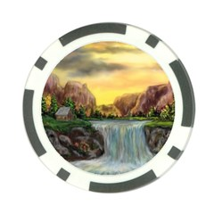 Brentons Waterfall - Ave Hurley - ArtRave - Poker Chip