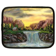 Brentons Waterfall - Ave Hurley - ArtRave - Netbook Sleeve (Large)