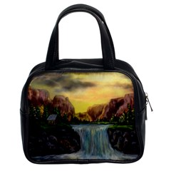 Brentons Waterfall - Ave Hurley - ArtRave - Classic Handbag (Two Sides)