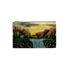 Brentons Waterfall   Ave Hurley   Artrave   Cosmetic Bag (small)