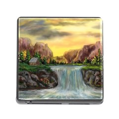 Brentons Waterfall - Ave Hurley - ArtRave - Memory Card Reader with Storage (Square)