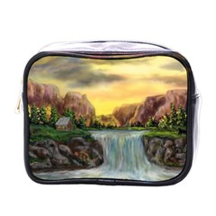 Brentons Waterfall   Ave Hurley   Artrave   Mini Travel Toiletry Bag (one Side)