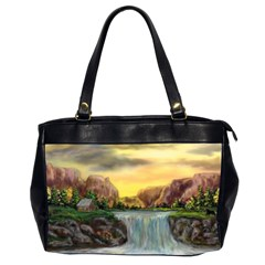 Brentons Waterfall - Ave Hurley - ArtRave - Oversize Office Handbag (Two Sides)