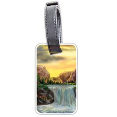 Brentons Waterfall - Ave Hurley - ArtRave - Luggage Tag (Two Sides)