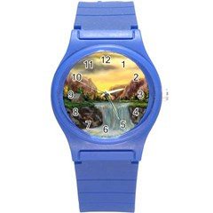 Brentons Waterfall - Ave Hurley - ArtRave - Plastic Sport Watch (Small)