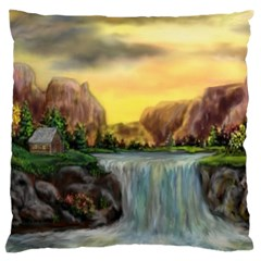 Brentons Waterfall   Ave Hurley   Artrave   Large Cushion Case (two Sided)