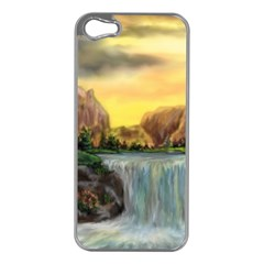 Brentons Waterfall   Ave Hurley   Artrave   Apple Iphone 5 Case (silver)