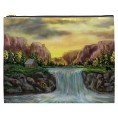 Brentons Waterfall   Ave Hurley   Artrave   Cosmetic Bag (xxxl)