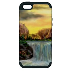 Brentons Waterfall - Ave Hurley - ArtRave - Apple iPhone 5 Hardshell Case (PC+Silicone)