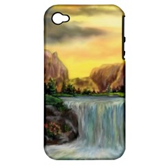 Brentons Waterfall - Ave Hurley - ArtRave - Apple iPhone 4/4S Hardshell Case (PC+Silicone)
