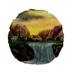 Brentons Waterfall   Ave Hurley   Artrave   15  Premium Round Cushion