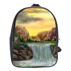 Brentons Waterfall - Ave Hurley - ArtRave - School Bag (XL)