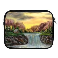 Brentons Waterfall   Ave Hurley   Artrave   Apple Ipad Zippered Sleeve