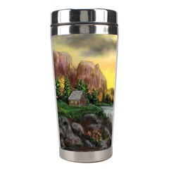 Brentons Waterfall - Ave Hurley - ArtRave - Stainless Steel Travel Tumbler