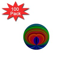 Design 1  Mini Button Magnet (100 pack)