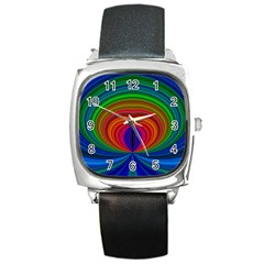 Design Square Leather Watch