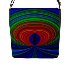 Design Flap Closure Messenger Bag (Large)