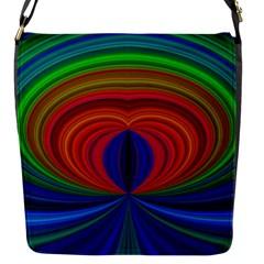 Design Flap Closure Messenger Bag (Small)
