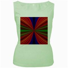 Design Womens  Tank Top (Green)