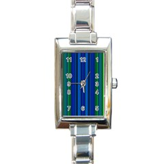 Strips Rectangular Italian Charm Watch