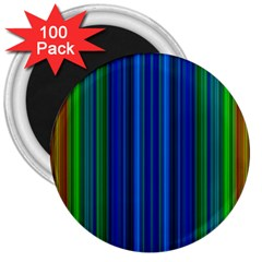 Strips 3  Button Magnet (100 pack)