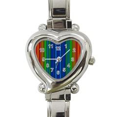Strips Heart Italian Charm Watch