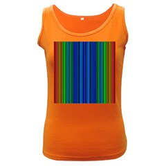 Strips Womens  Tank Top (dark Colored)