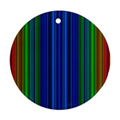 Strips Round Ornament (Two Sides)