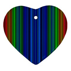 Strips Heart Ornament (Two Sides)