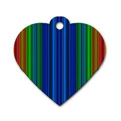 Strips Dog Tag Heart (Two Sided)
