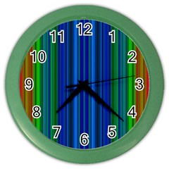 Strips Wall Clock (Color)