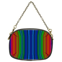 Strips Chain Purse (One Side)