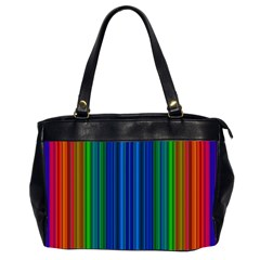 Strips Oversize Office Handbag (Two Sides)