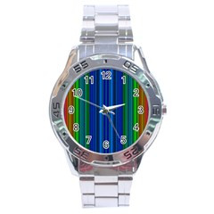 Strips Stainless Steel Watch