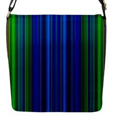 Strips Flap Closure Messenger Bag (small)