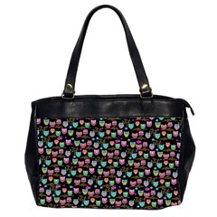 Happy Owls Oversize Office Handbag (Two Sides)