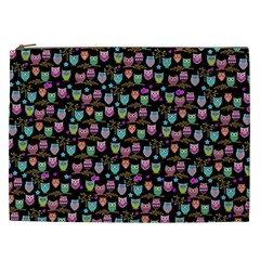 Happy Owls Cosmetic Bag (XXL)