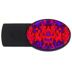 Abstract 2GB USB Flash Drive (Oval)
