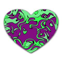 Abstract Mouse Pad (Heart)