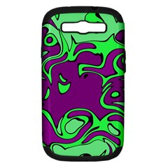 Abstract Samsung Galaxy S III Hardshell Case (PC+Silicone)