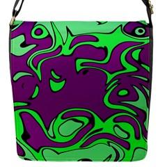 Abstract Flap Closure Messenger Bag (Small)