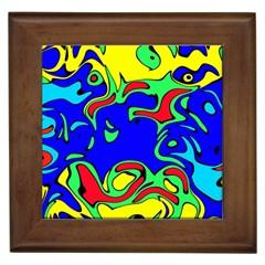 Abstract Framed Ceramic Tile