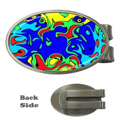 Abstract Money Clip (oval)