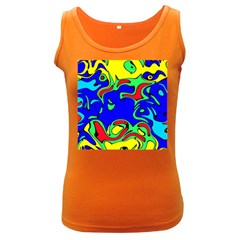 Abstract Womens  Tank Top (Dark Colored)