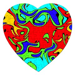 Abstract Jigsaw Puzzle (heart)